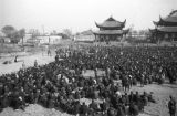 Changde (China), refugees await to receive assistance at an assembly after the Battle of Changde