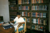 Bombay, student in university library