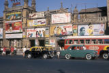 Bombay, billboards lining buildings