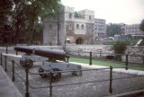London, Tower of London cannons and battlement