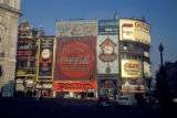 London, advertising on buildings at Piccadilly Circus