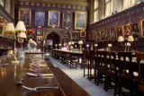 Oxford, Christ Church College dining tables in Great Hall