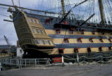 Portsmouth, H.M.S. Victory restored as monument to Vice Admiral Lord Nelson at the Battle of...
