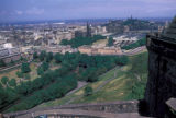 Edinburgh, panoramic view of city from Edinburgh Castle