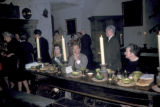 Shannon, diners seated at banquet in Bunratty Castle