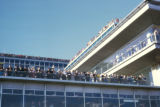 Paris, Orly Airport terminal with crowd on balconies