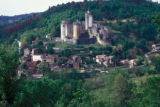 Fumel, view of Chateau Bonaguil
