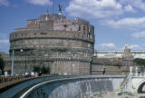 Rome, Castel Sant'Angelo built by Roman Emperor Hadrian as mausoleum