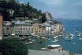 Portofino, view of waterfront and boats in harbor