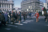 Bucharest, crosswalk on General Magheru Boulevard