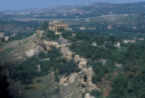 Agrigento, view of Temple Concord and catacomb-lined ridge