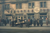 Sofia, people waiting on sidewalk