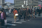 Bucharest, busy city crosswalk