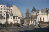 Bucharest, ornate architecture in residential area