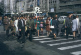 Bucharest, pedestrians in crosswalk