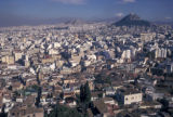 Athens, view of city and Lycabettus Hill from the Acropolis