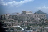 Athens, view of Acropolis from Hill of Muses