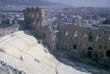 Athens, view of Herod Atticus Theatre from Acropolis