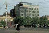 "Moscow, ""Izvestia"" newspaper office and street scene"