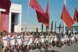 Moscow, athletes in parade