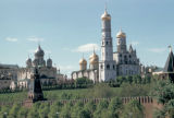 Moscow, Kremlin, Uspenskii sobor (Dormition Cathedral) and Ivan the Great Bell Tower
