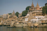Varanasi, bathing ghats on Ganges river