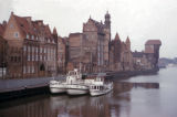 Gdansk, old harbor with historic Great Crane in background