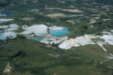 Ipoh, aerial view of hydraulic open cut tin mine
