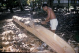 Ambon, boat-maker carving wood