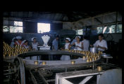 Ambon, workers on assembly line in tuna cannery