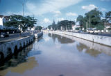 Jakarta, view of canal in city center