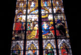 Cologne, detail of stained glass window in Cologne Cathedral