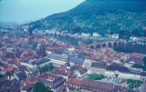 Heidelberg, cityscape with Church of the Holy Spirit and Karl Theodor Bridge (Old Bridge)