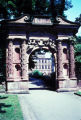 Heidelberg, decorative gate in Heidelberg Castle garden