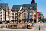 Frankfurt, Romerberg plaza with Statue of Justice fountain