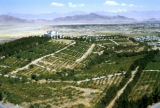 Kabul, view of hilltop palace and surrounding vineyards