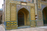 Mazar-e Sharif, mosaic tilework at Mosque of Hazrat Ali