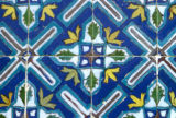 Mazar-e Sharif, detail of mosaic tiles at Mosque of Hazrat Ali
