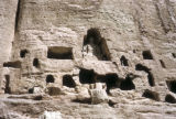 Bamiyan, cave homes of Buddhist monks in Bamiyan Valley