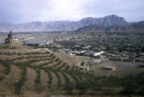 Kabul, panoramic view of city and surrounding valley
