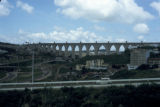 Lisbon, panoramic view of Águas Livres aqueduct