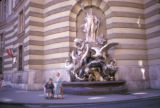 Vienna, fountain in courtyard of Hofburg Imperial Palace