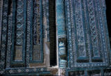 Samarkand, tiled wall of Shah-I-Zinda Necropolis