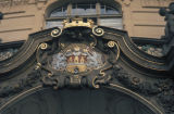 Prague, city crest on Old Town Hall