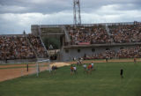 Alma-Ata, soccer match in stadium