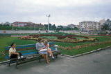 Chabarovsk, group on bench in city square