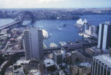 Sydney, cityscape with Sydney Harbor Bridge and Sydney Opera House