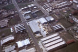 Melbourne, aerial view of industrial area