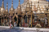 Rangoon, shrines surrounding Shwedagon Pagoda