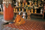 Rangoon, monk at Shwedagon Pagoda